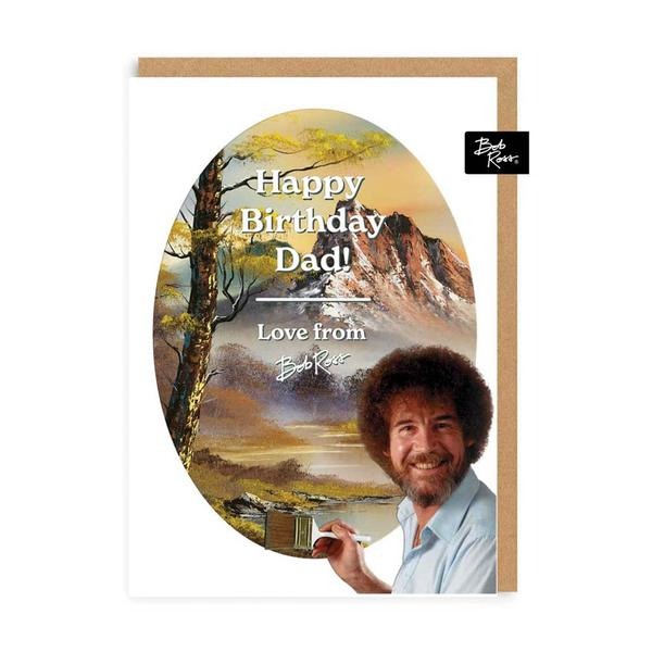 Dad Happy Birthday Mountains Greeting Card