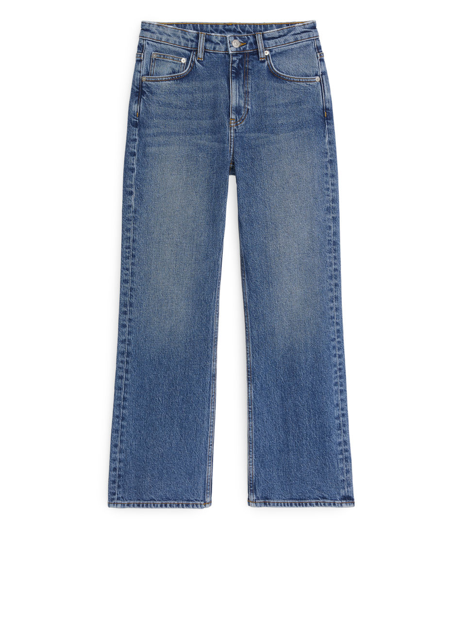 FLARED CROPPED STRETCH Jeans - Blue