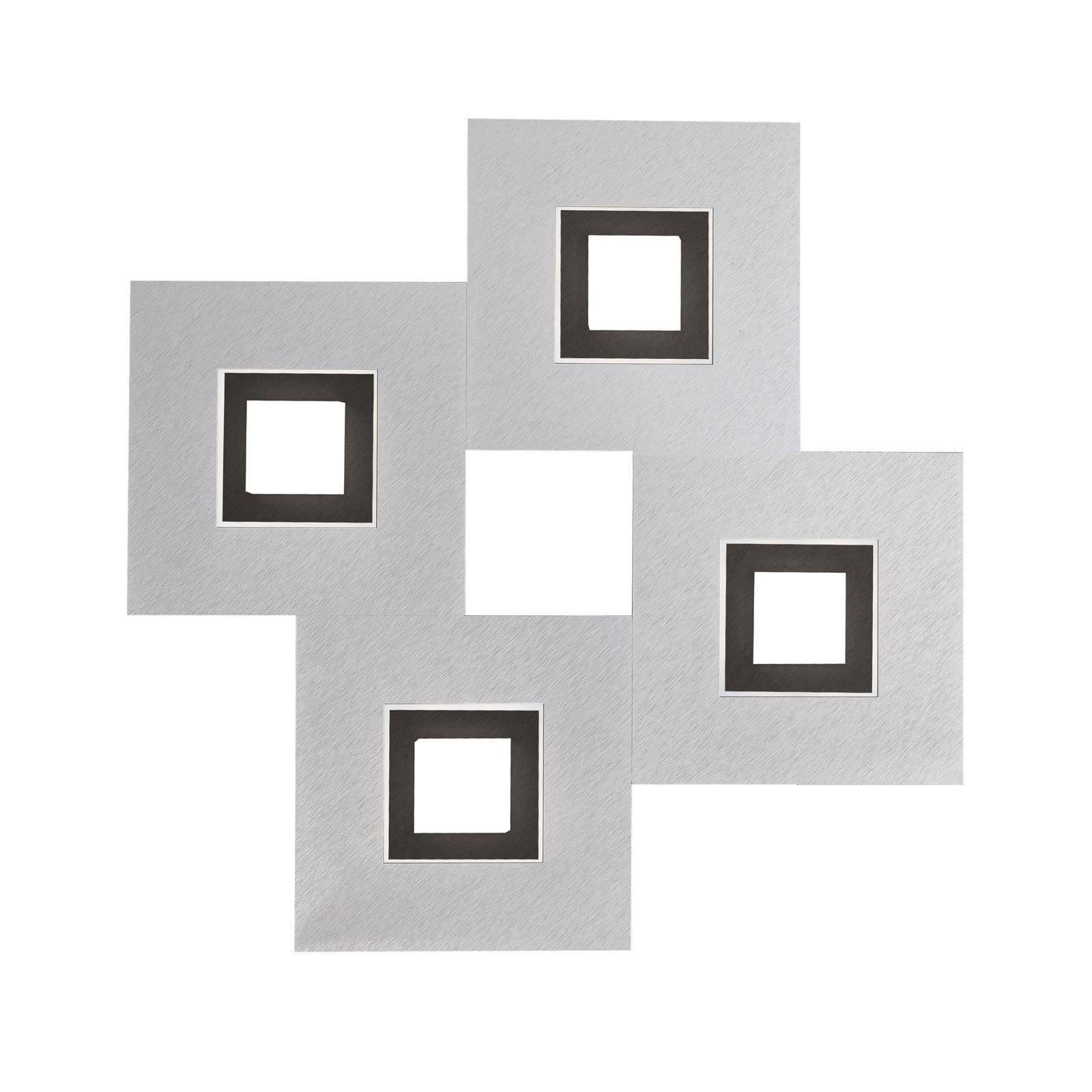 GROSSMANN Karree, 4 lysk., 50x50, aluminium, svart