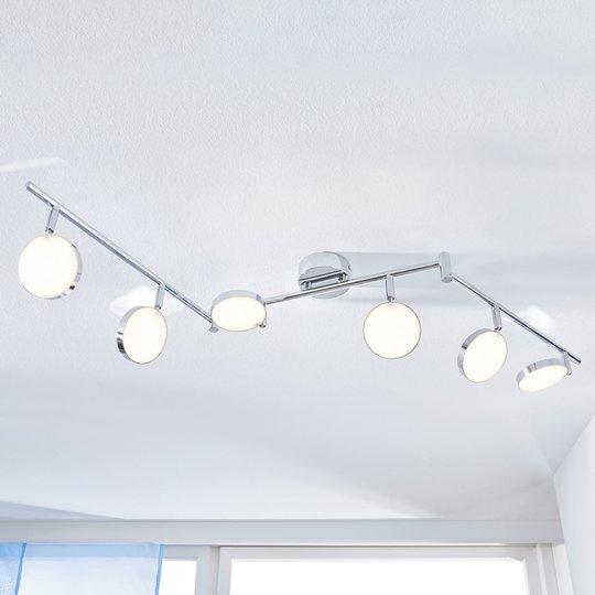 LED-kattokohdevalo Keylan, 6-lamppuinen