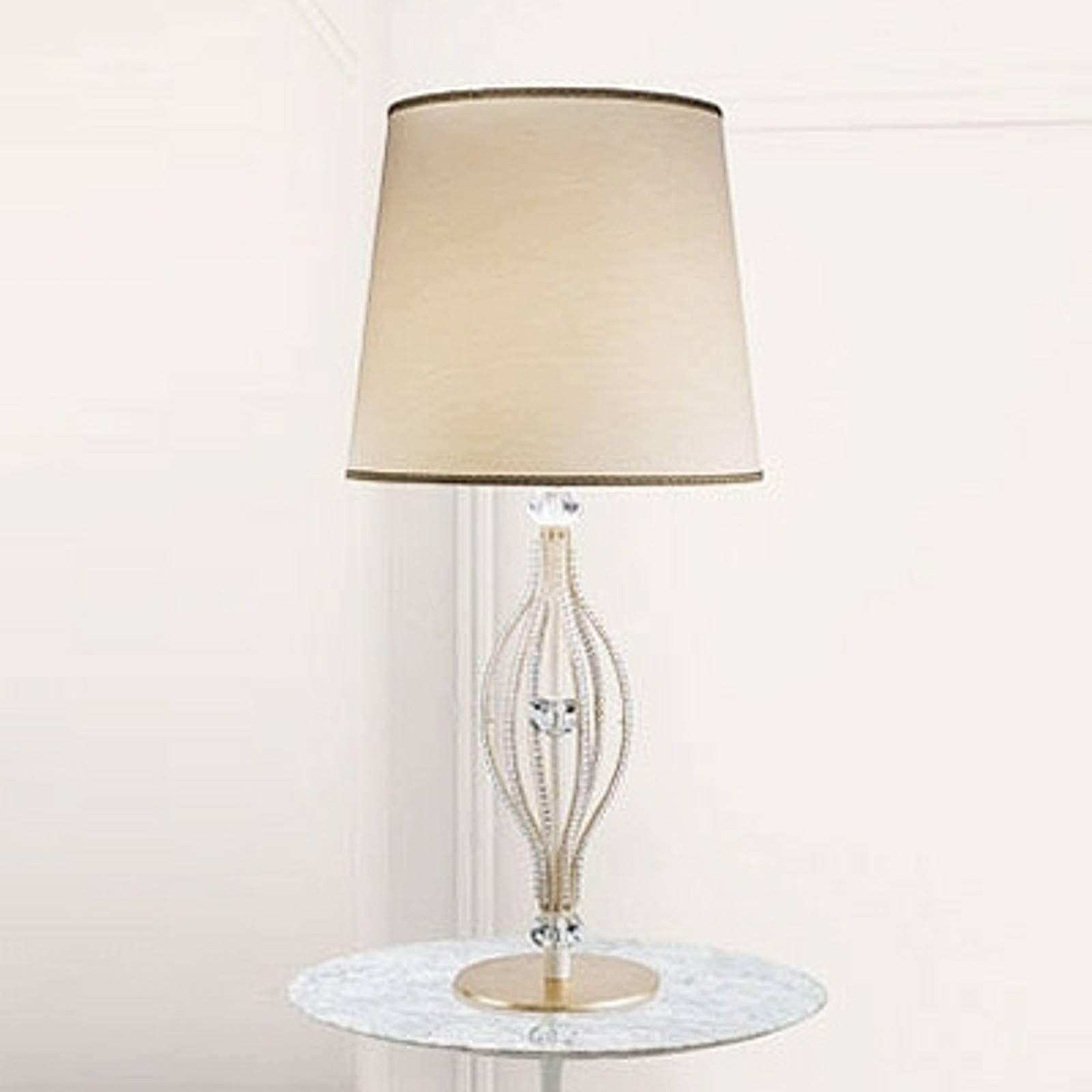 Elfenbensfarget bordlampe ANOUK