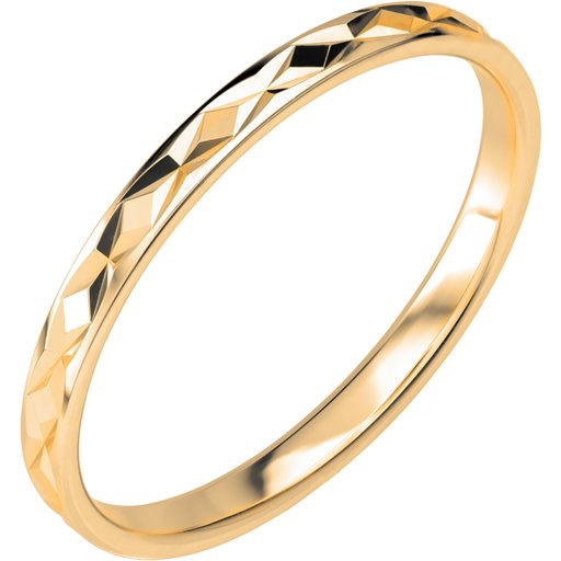 Förlovningsring i 9K guld 2mm, 60