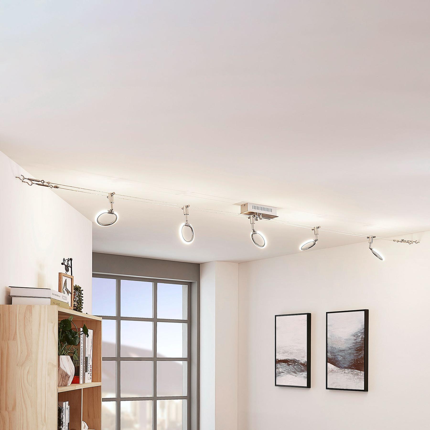 LED-vaijerijärjestelmä Ratka, 5-lamppuinen
