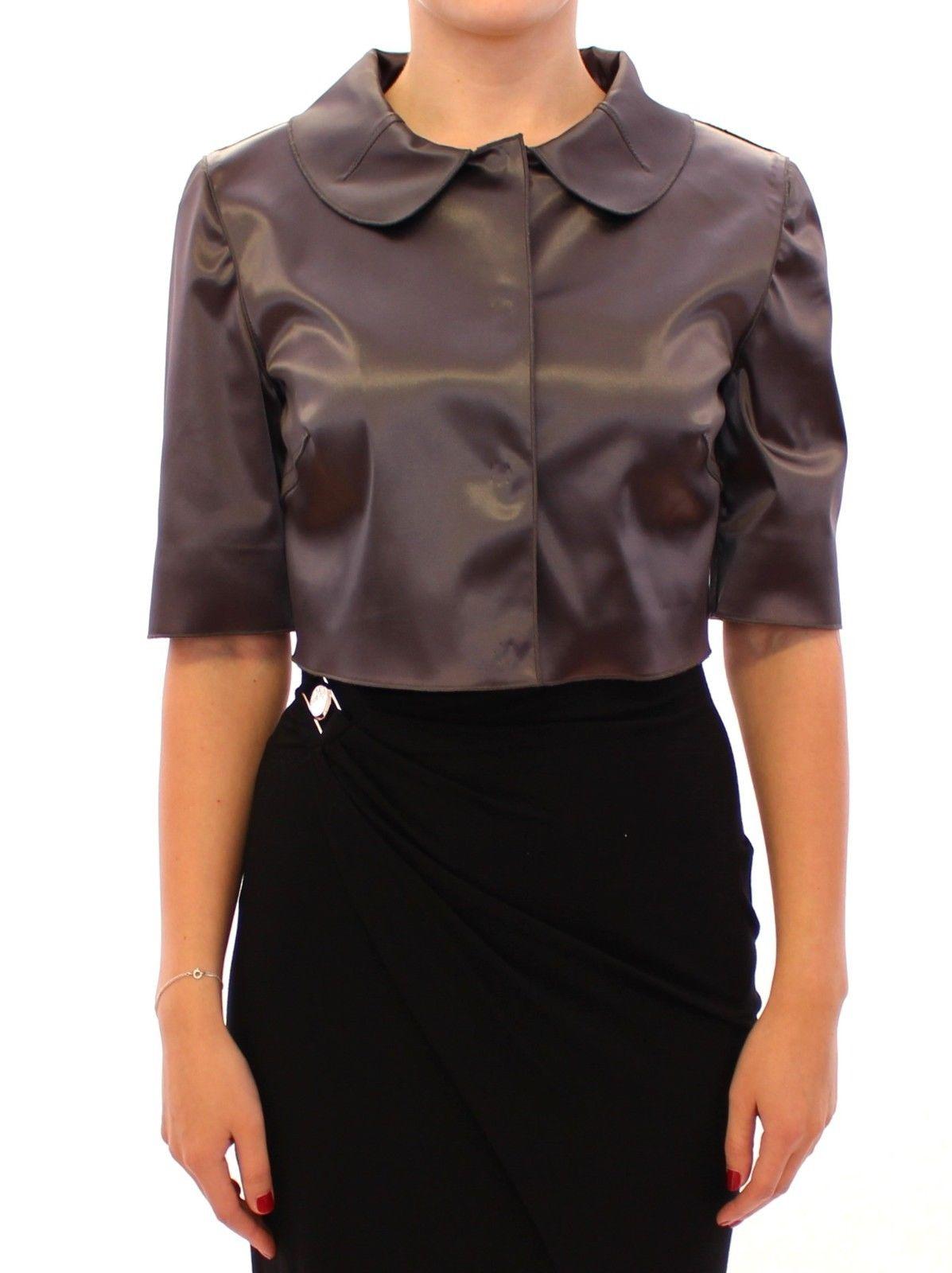 Dolce & Gabbana Women's Shiny Stretch Bolero Shrug Jacket Gray GSS11367 - IT38 XS