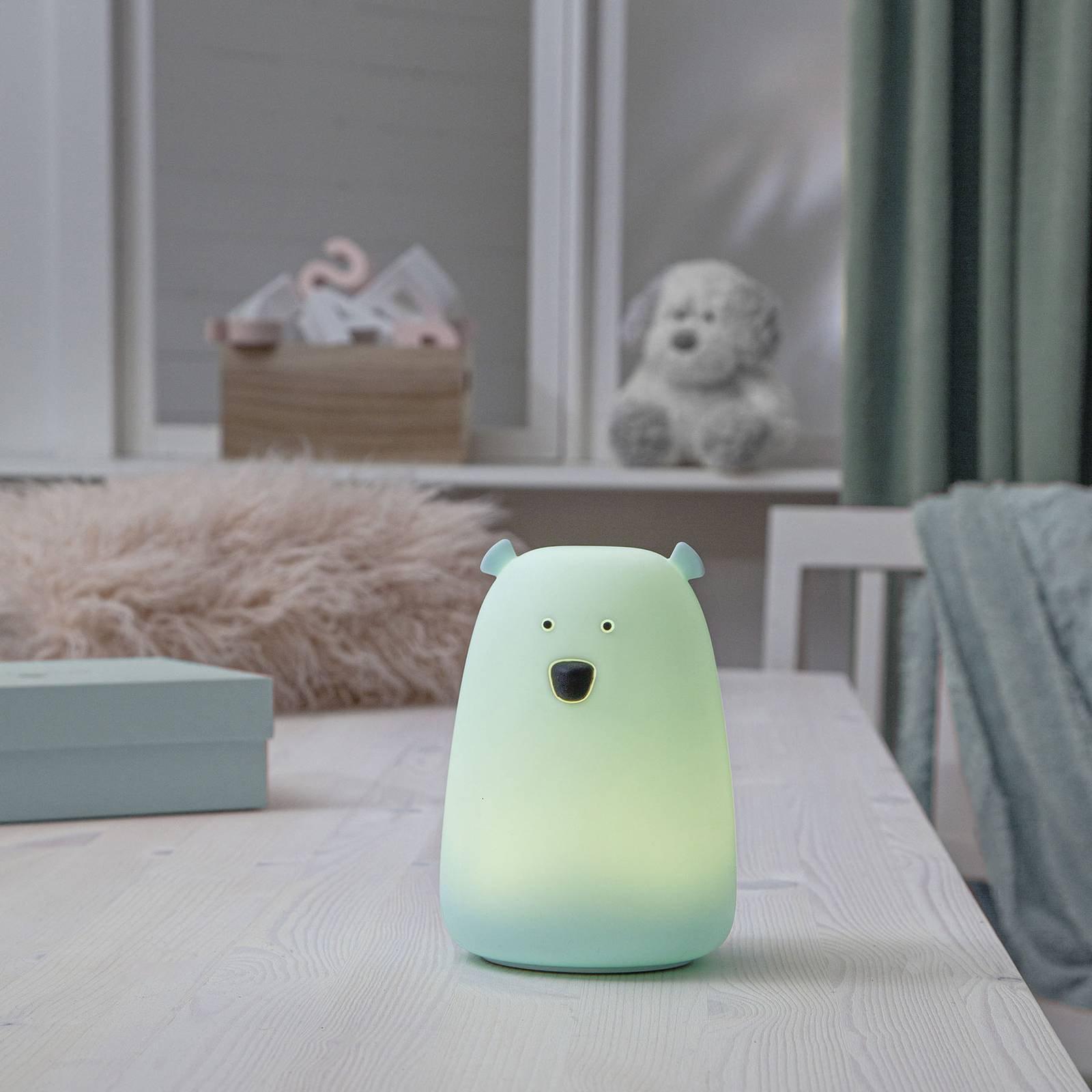 LED-bordlampe Big Bear, nattlys, fargeendring