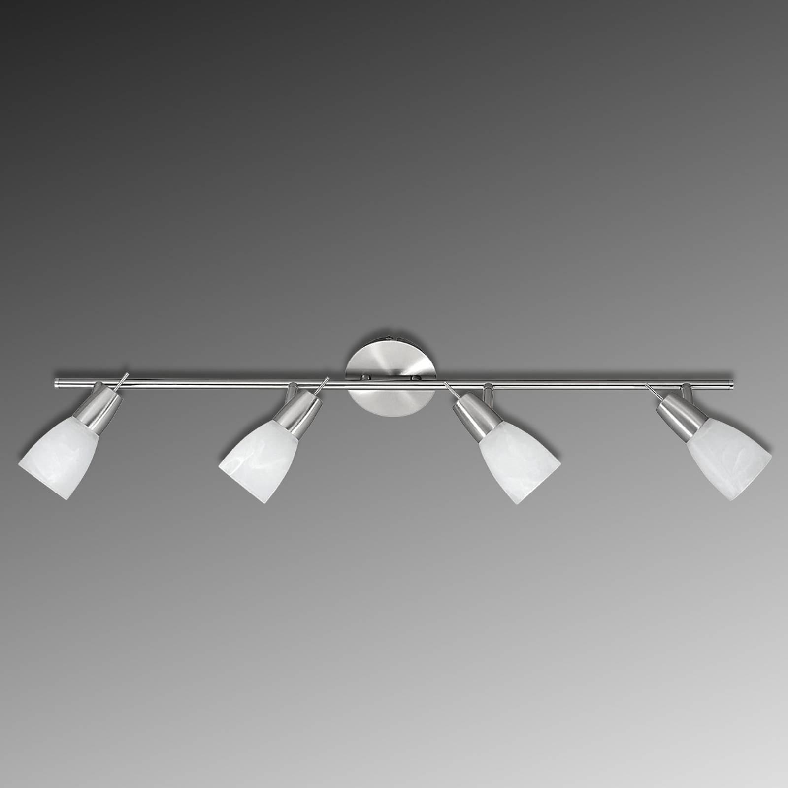 LED-taklampe Julia med marmorerte glass