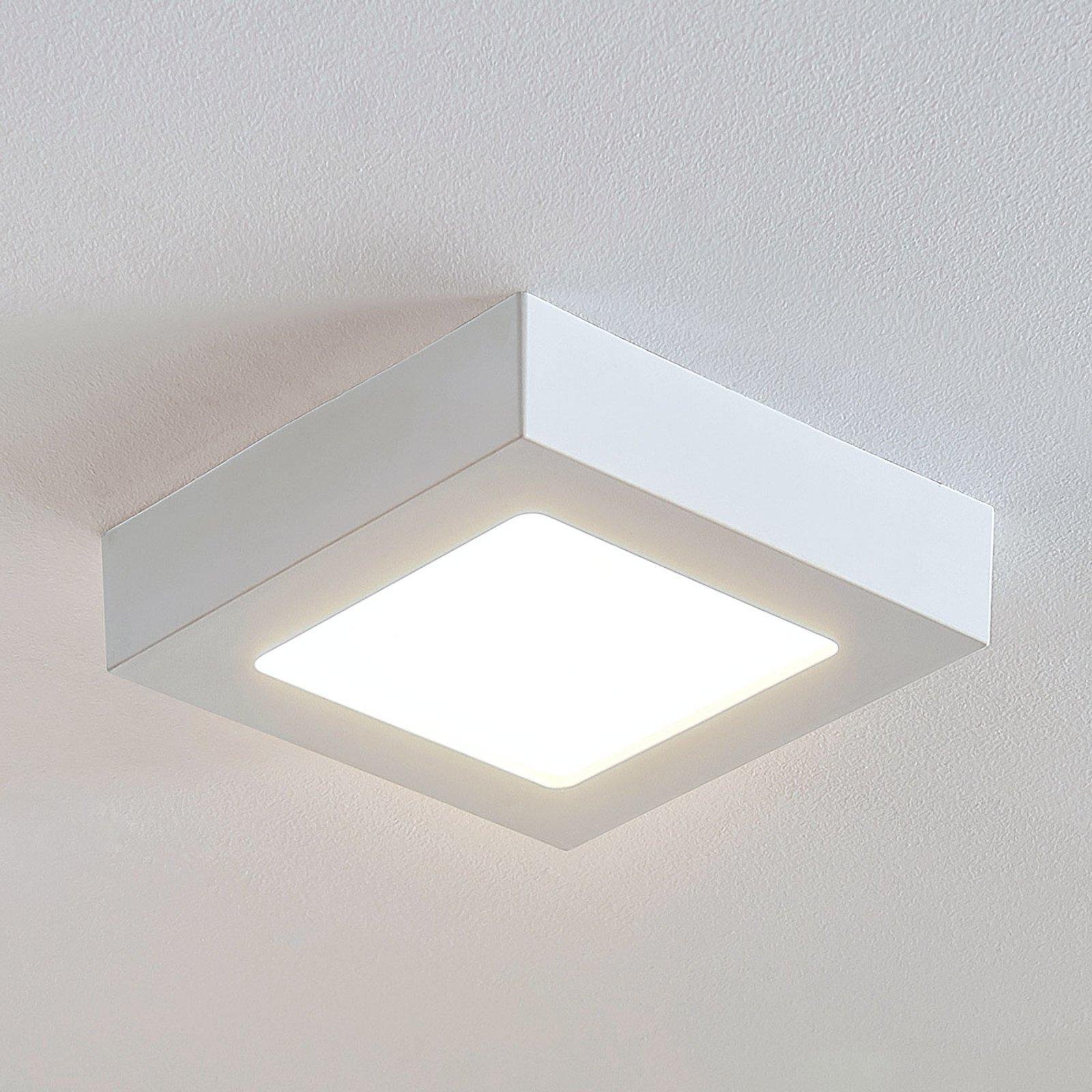 LED-taklampe Marlo, hvit, 3 000 K kantet 18,1 cm