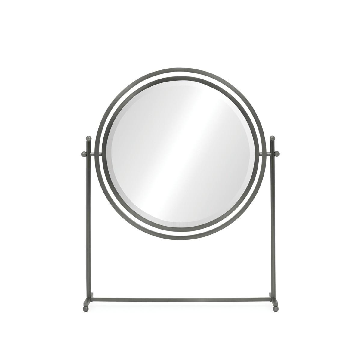 William Yeoward | Sandrine Round Tilt Dressing Mirror Antique Bronze