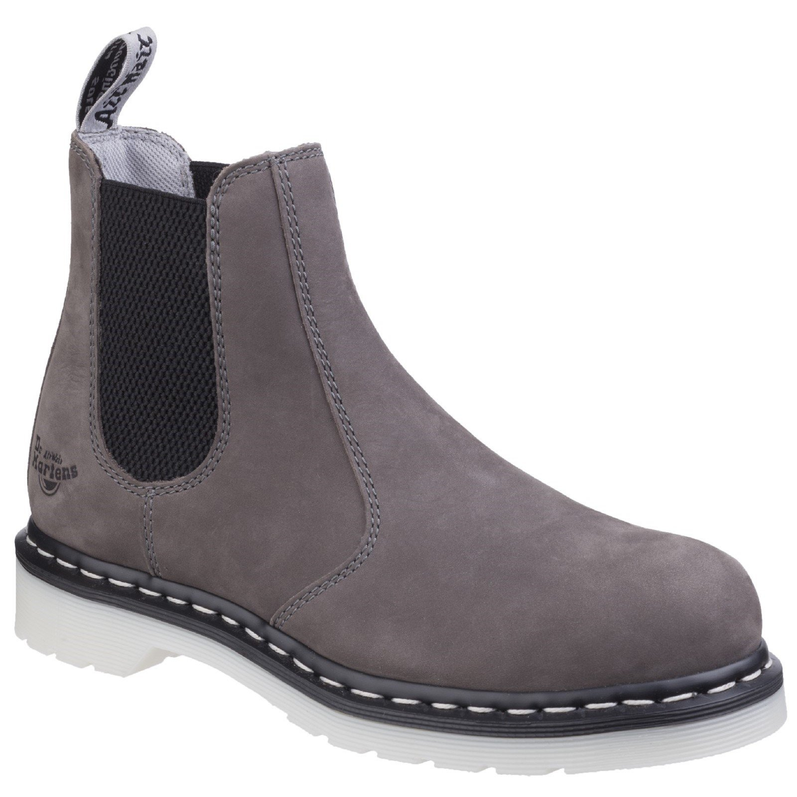 Dr Martens Women's Arbor Elastic Safety Boot Various Colours 29517 - Grey Wind River 8