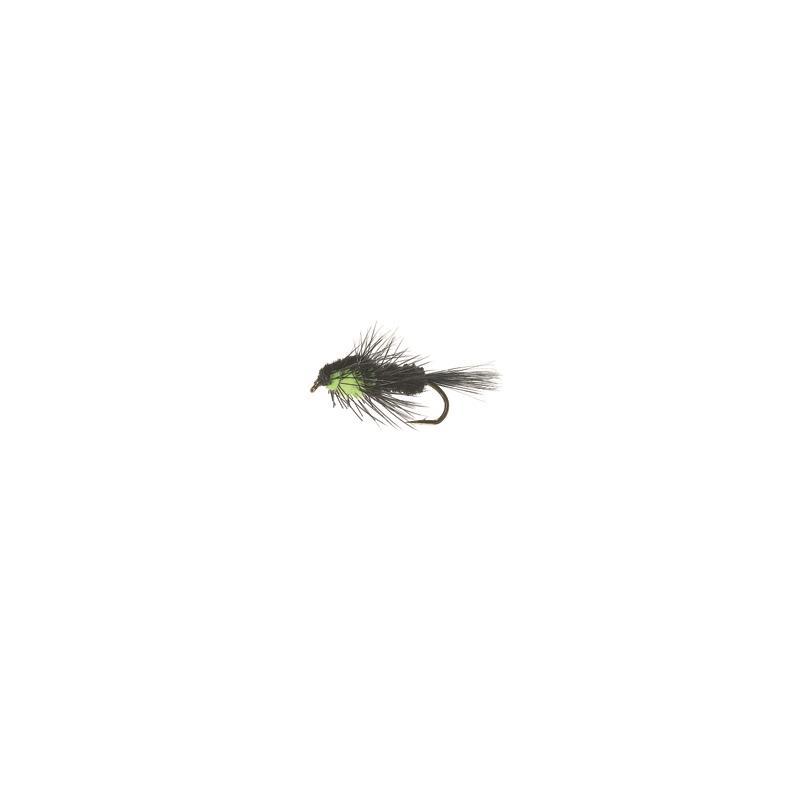 Montana Nymph #10 Black/Fluo Green Kjøp 12 fluer få gratis flueboks