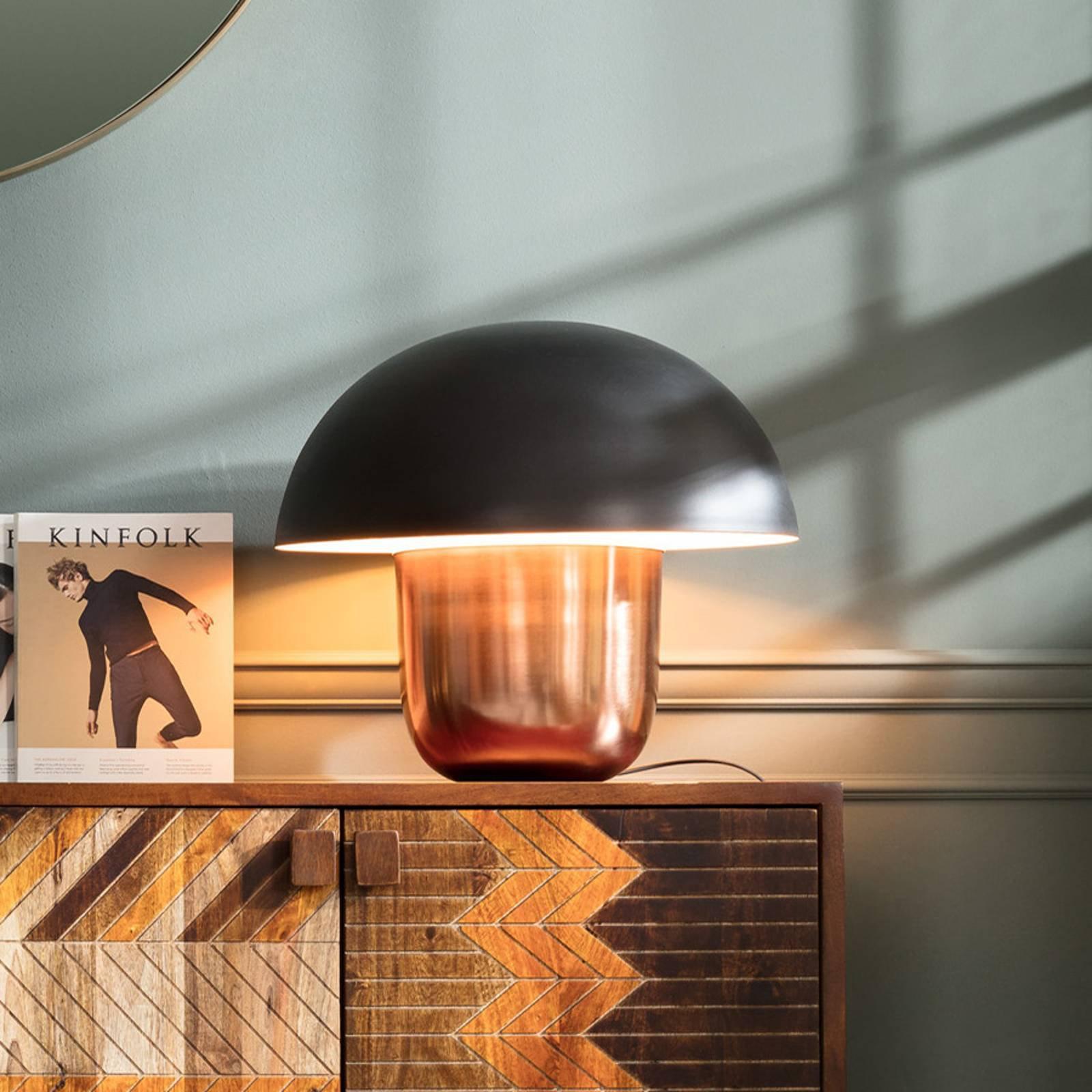 KARE Mushroom - bordlampe, sopp, kobber/svart