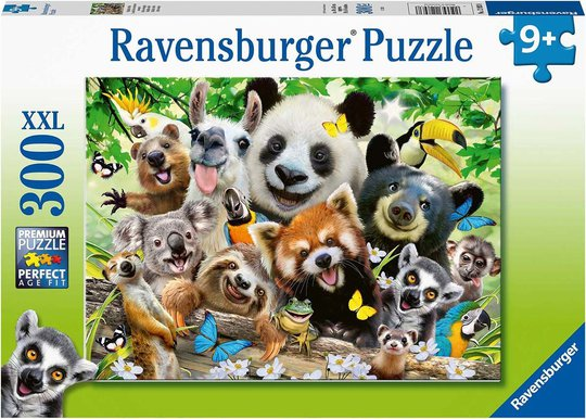 Ravensburger Puslespill Villdyr Selfie 300 Brikker
