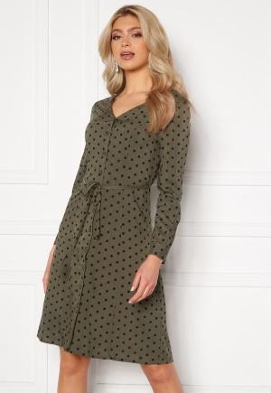 Happy Holly Blake ls dress Khaki green / Black 40/42