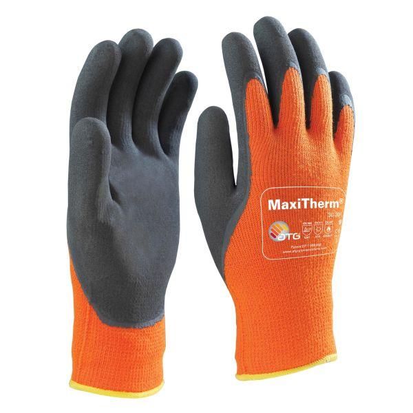 Maxiflex Maxitherm Työkäsineet oranssi/musta, lateksipäällystetty 10
