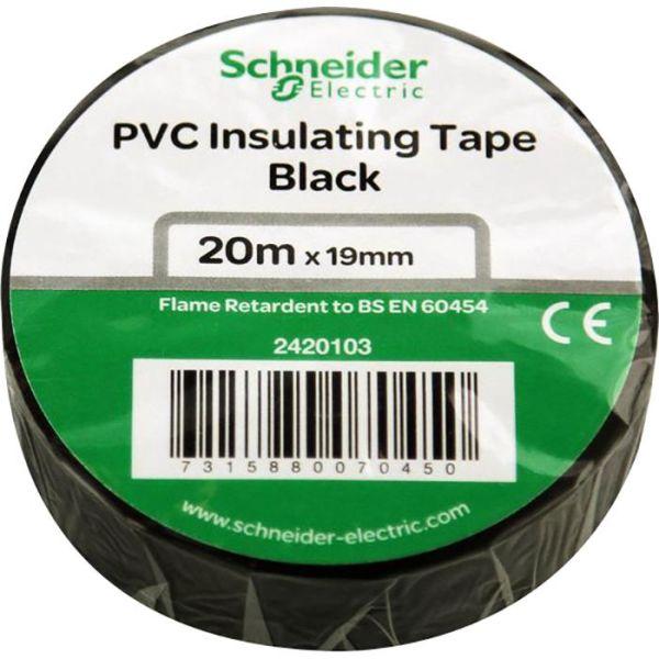 Schneider Electric 2420103 Elektrikerteip 19 mm x 20 m Svart