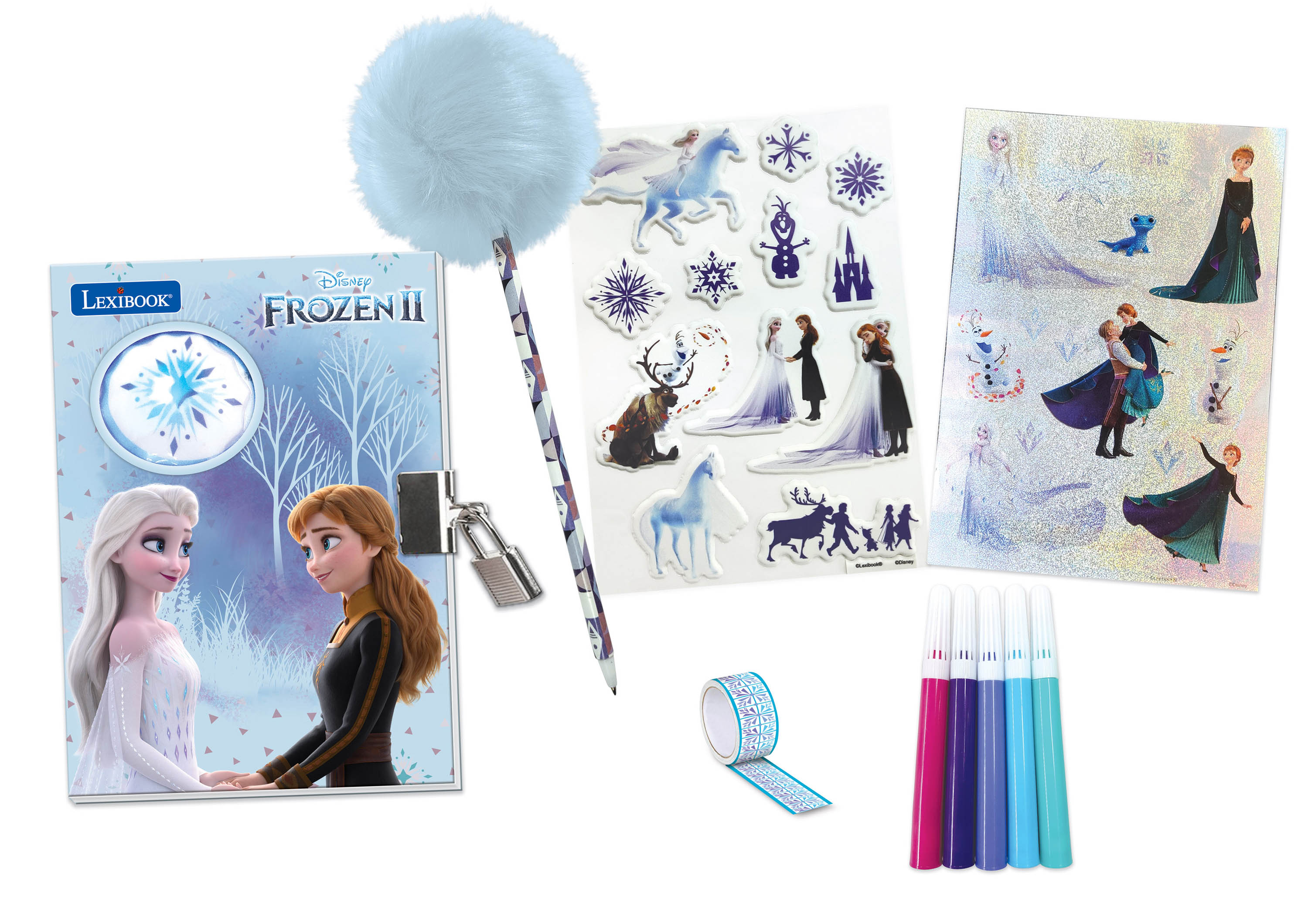 Lexibook - Frozen Electronic Secret Diary with light and accessories (stickers, pen, color pen) (SD30FZ)