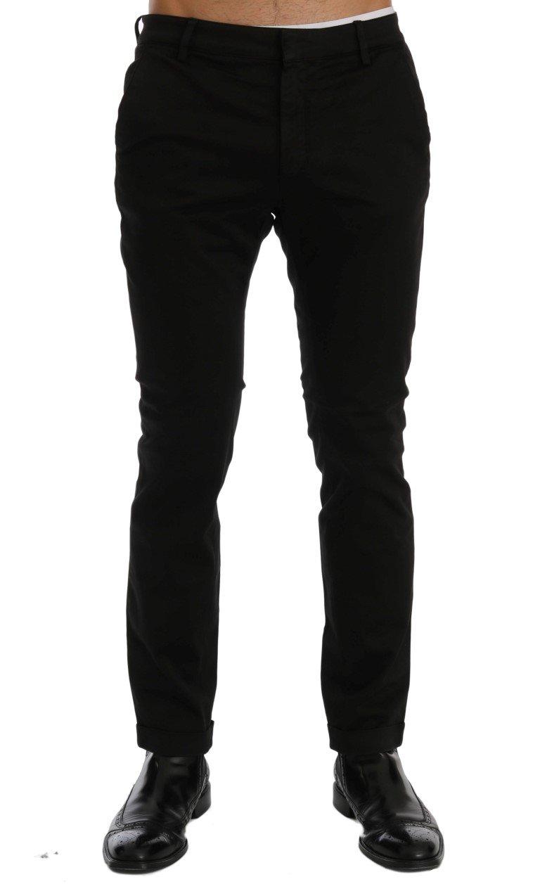 Costume National Men's Slim Fit Cotton Stretch Trouser Black SIG60460 - IT46 | S