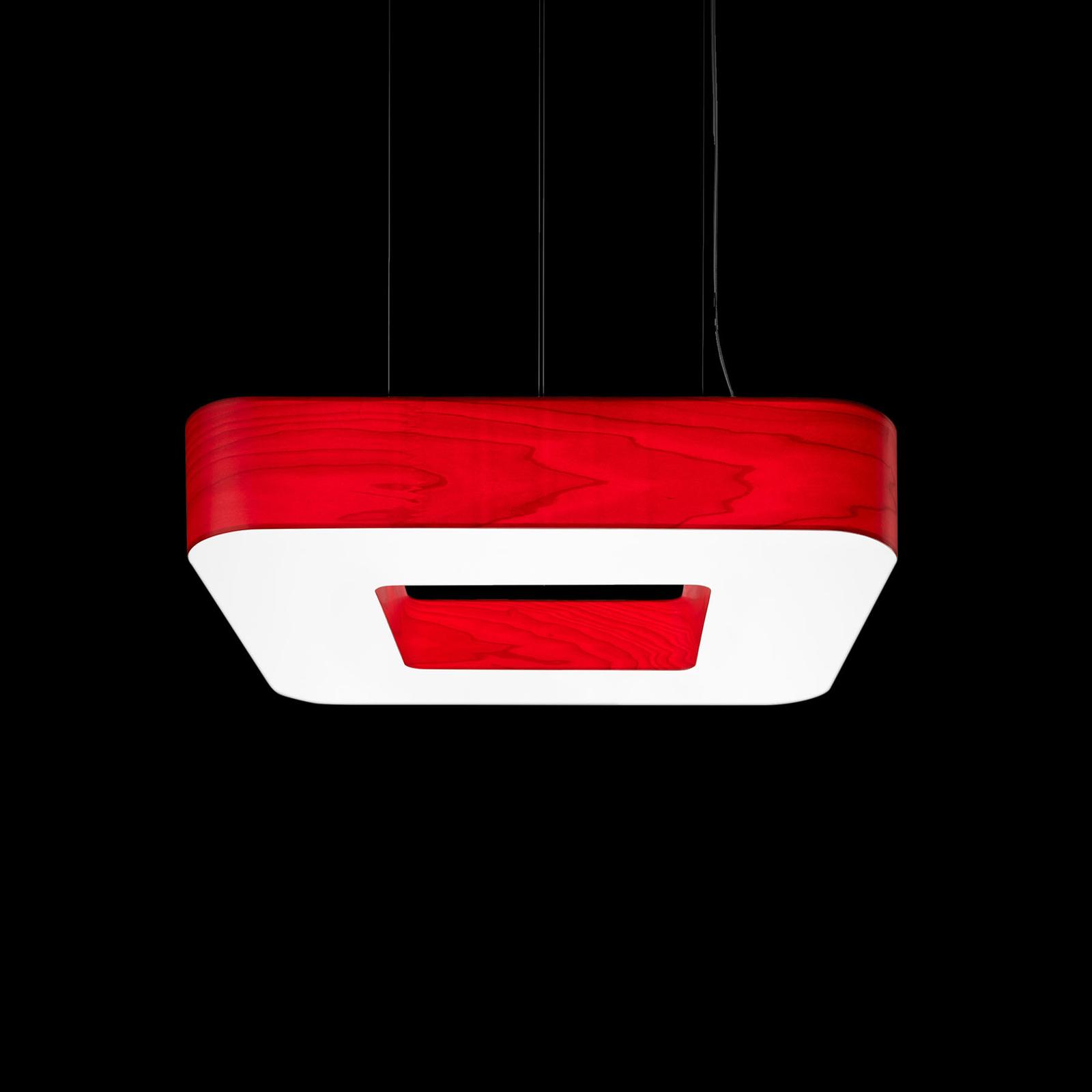 LZF Cuad -LED-riippuvalaisin 0–10 V, punainen