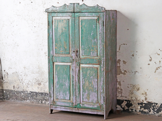 Vintage Shabby Chic Amoire Green