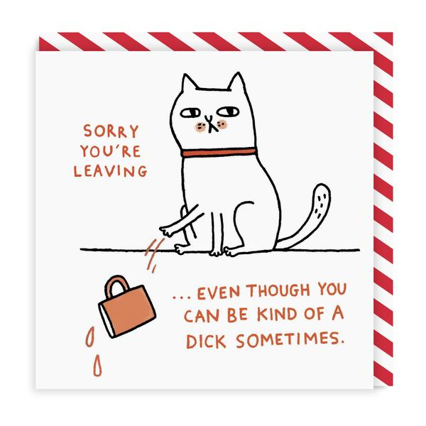 Sorry You're Leaving Square Greeting Card
