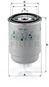 Polttoainesuodatin MANN-FILTER WK 821