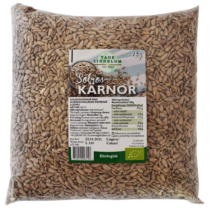 Solrosfrö Eko 1kg - 34% rabatt