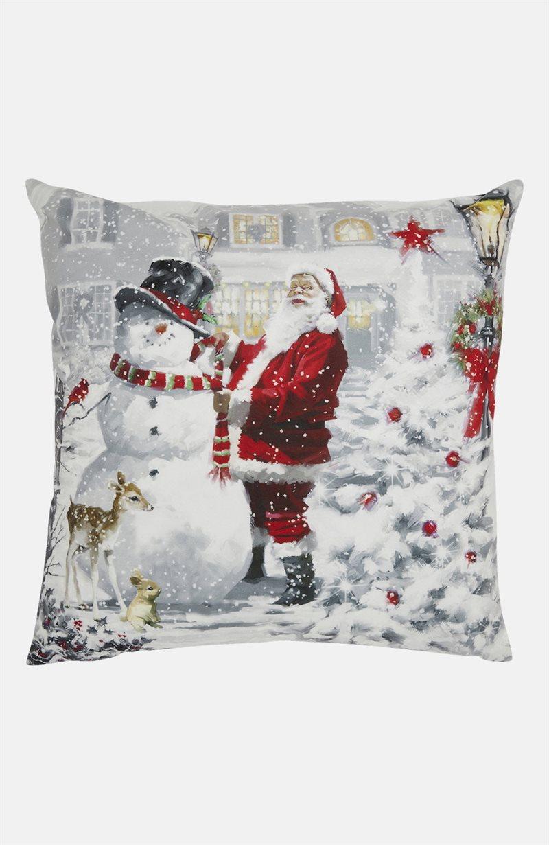 Julkväll tyynynpäällinen joulupukki/lumiukko