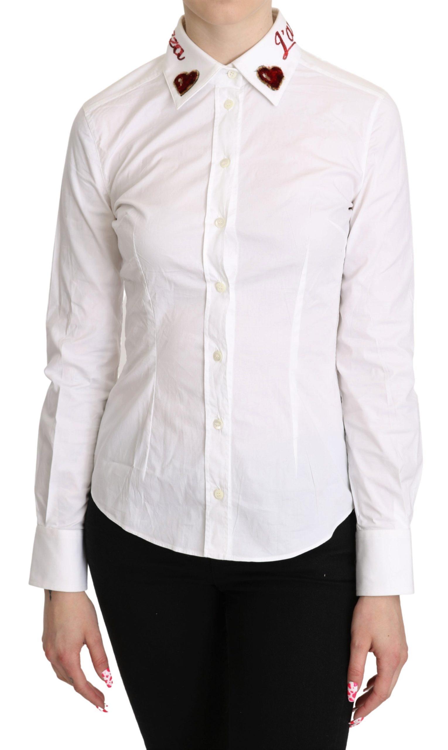 Dolce & Gabbana Women's L'Amore E'Bellazza Top White TSH5268 - IT40|S
