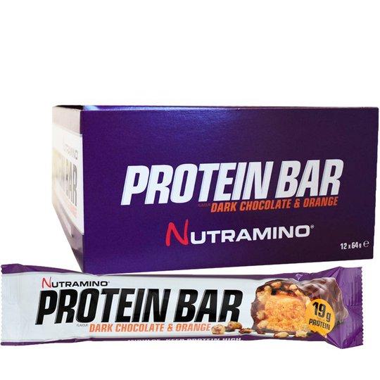 "Hel Låda Proteinbars ""Dark Chocolate & Orange"" 12 x 64g - 84% rabatt"
