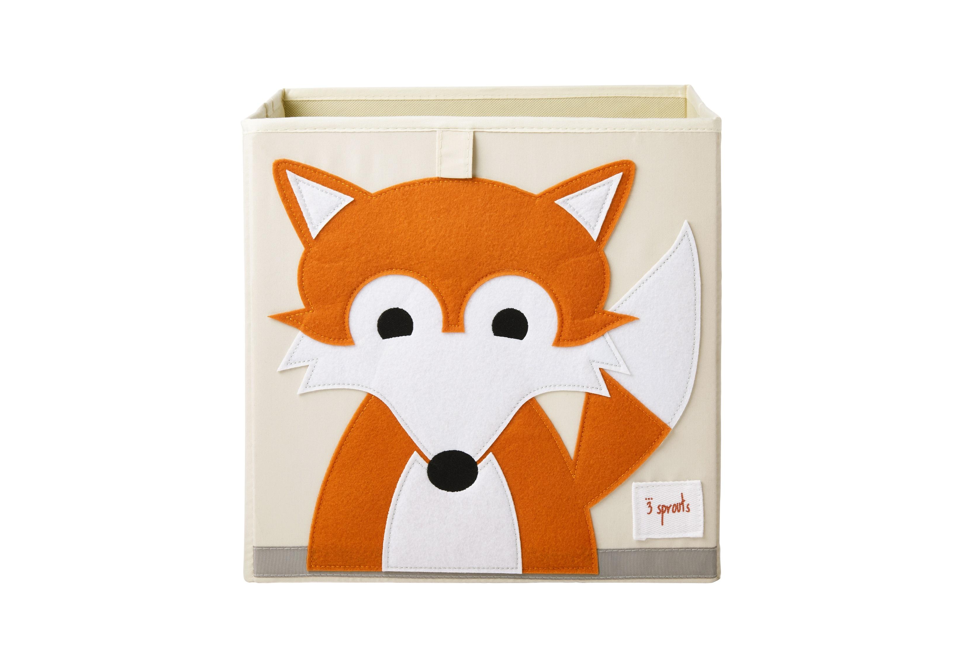 3 Sprouts - Storage Box - Orange Fox