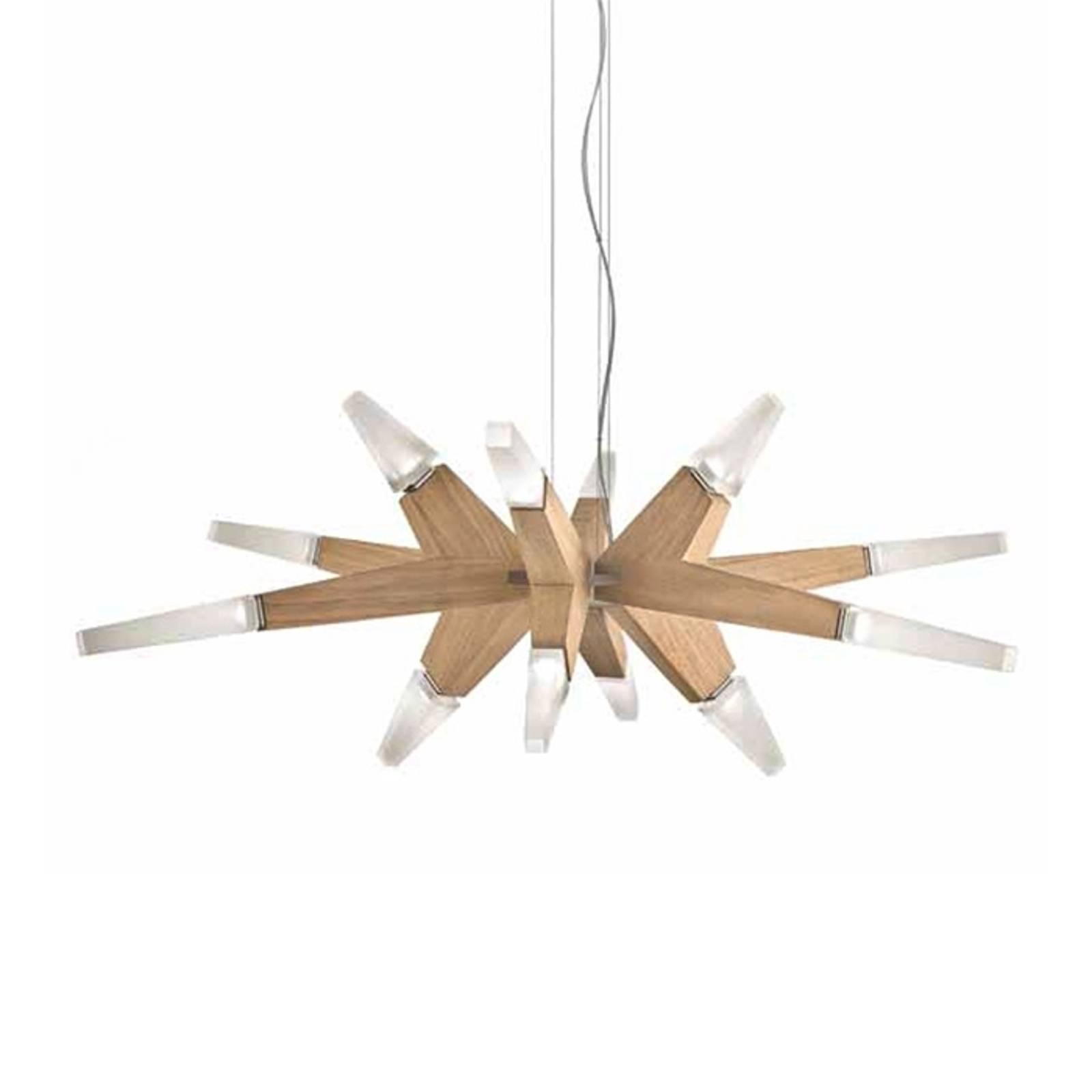 Flashwood – LED-riippuvalaisin tammea, 90 cm
