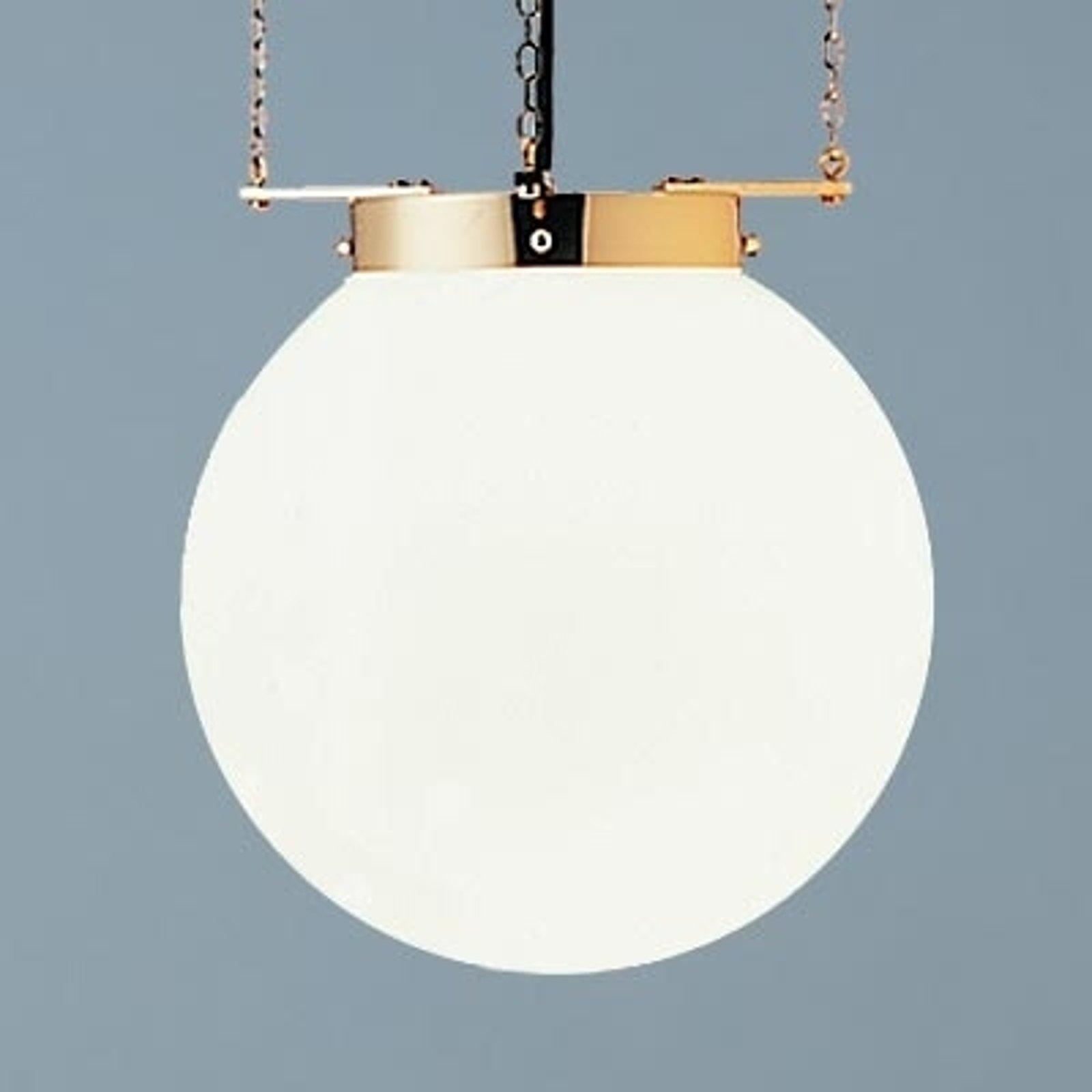 Hengelampe i Bauhaus-stil nikkel 40 cm