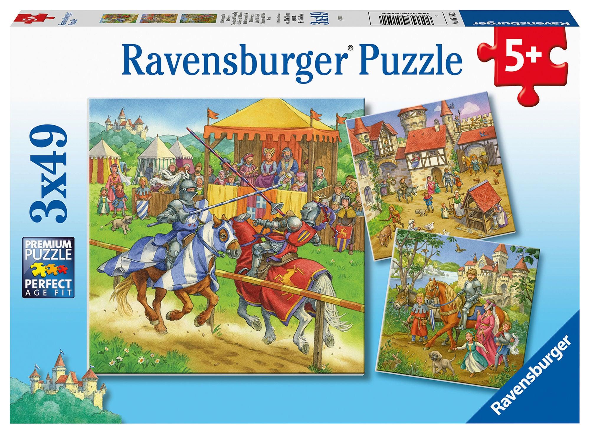 Ravensburger Pussel Livet som Riddare 3x49 Bitar