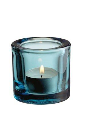 Kivi lyslykt 60 mm havsblå /gavefrp