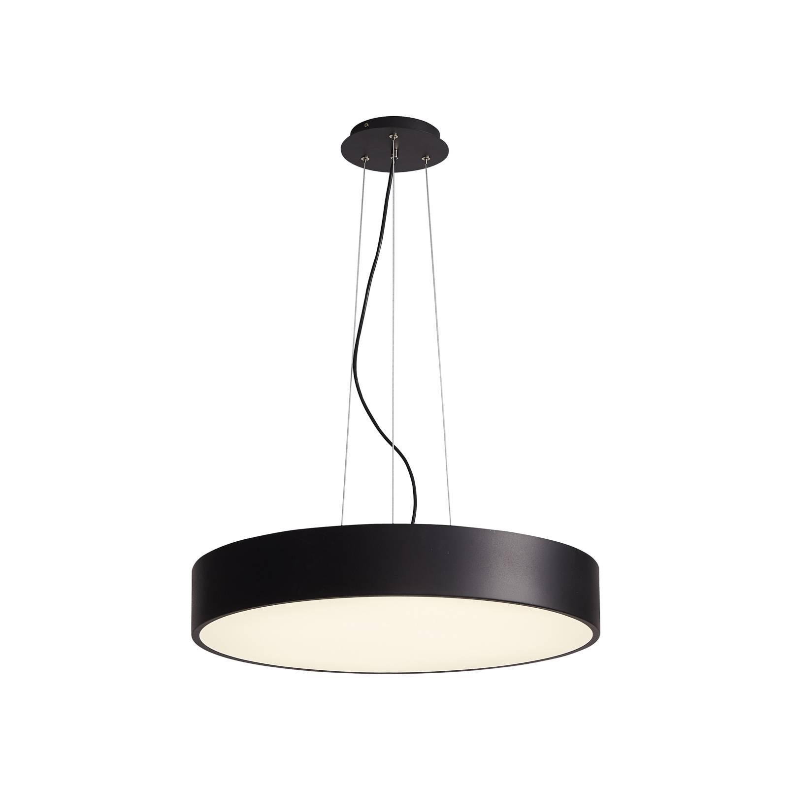 Arcchio Noabelle -LED-riippuvalaisin, musta, 40 cm