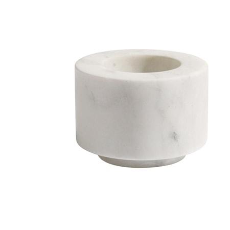 Pico Ljusstake White Marble 5x7 cm