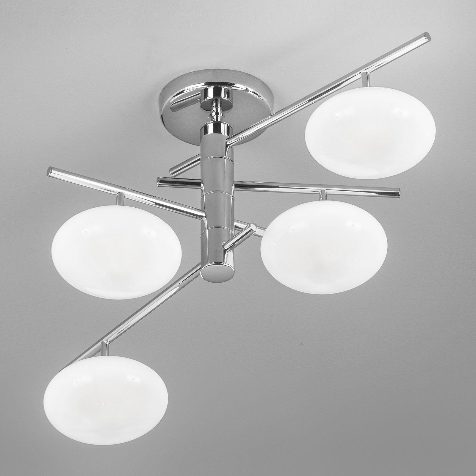 Kattovalaisin Dolce 4-lamppuinen kromi/valkoinen
