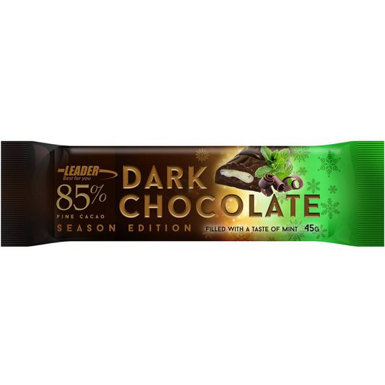 "Mörk Choklad-bar ""Mint"" 45g - 88% rabatt"