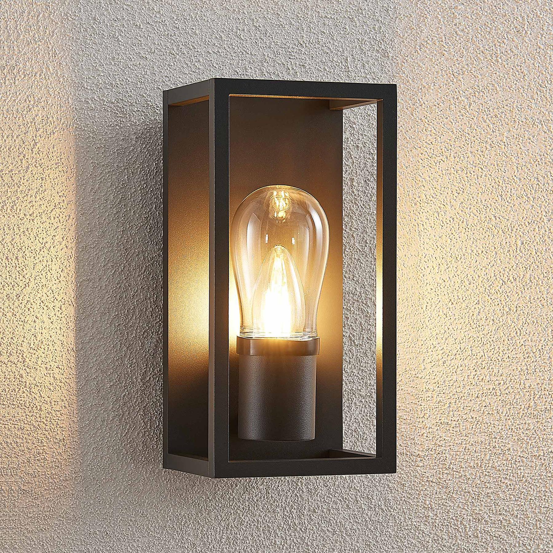 Lucande Irmgart -ulkoseinävalaisin, 1-lamppuinen
