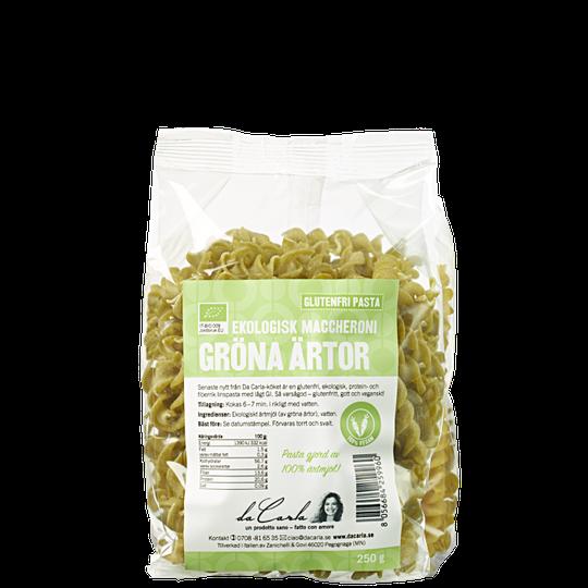 Gröna Ärtor Ekologisk Fusilli, 250 g