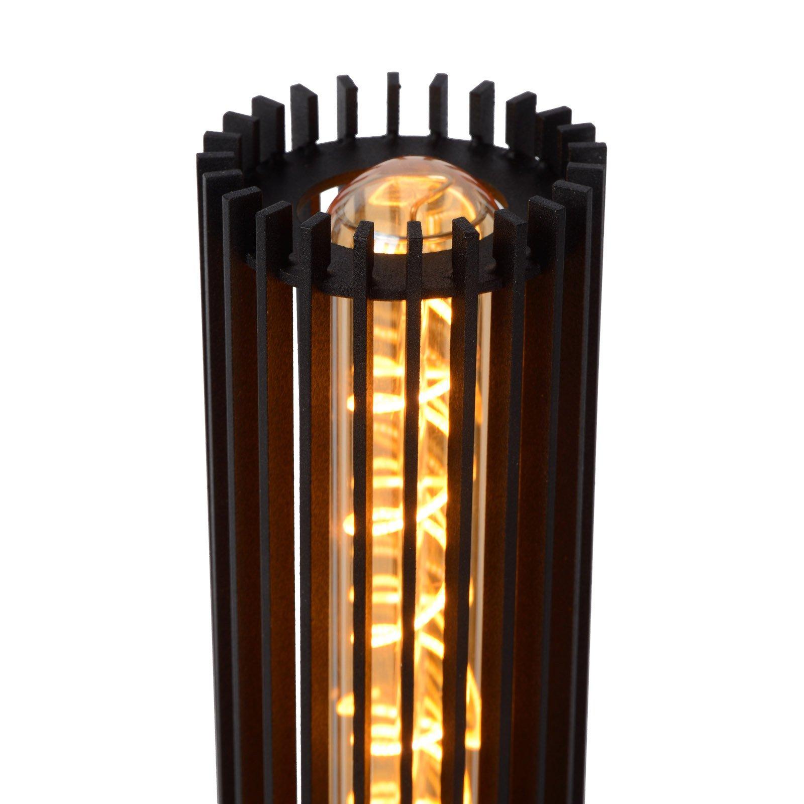 Lionel bordlampe av metall i svart