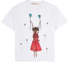 Marni Ballerina T-shirt Vit 4 år