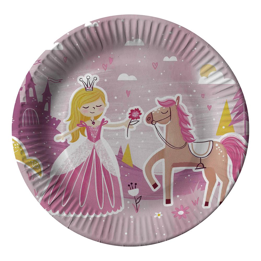 Papperstallrikar Fairytale Princess - 10-pack