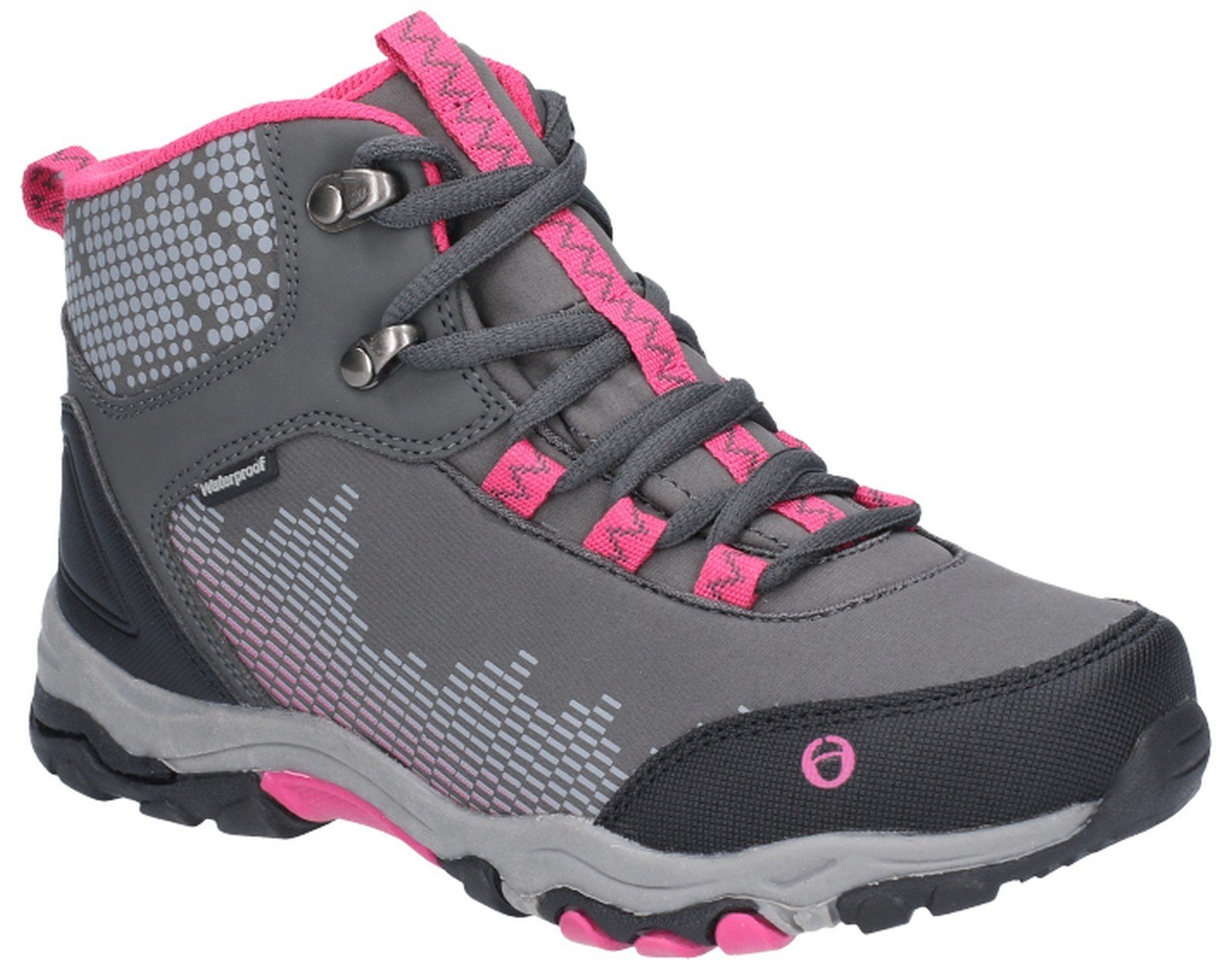 Cotswold Kid's Ducklington Lace Up Hiking Waterproof Boot Multicolor 28251 - Grey/Pink 10.5