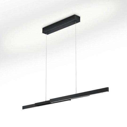 LED-hengelampe Lara-L205 svart, bevegelseskontroll