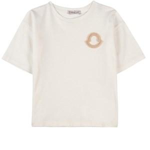 Moncler Logo T-shirt Off white 5 år