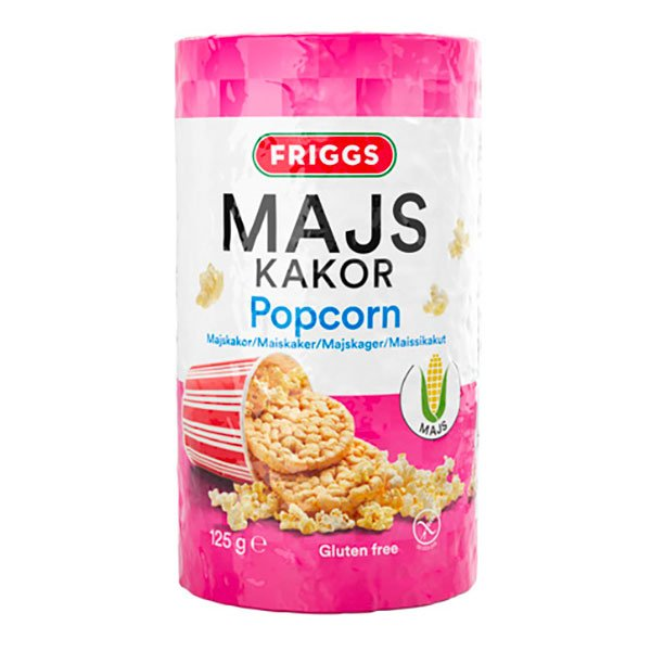Friggs Majskakor Popcorn - 125 gram