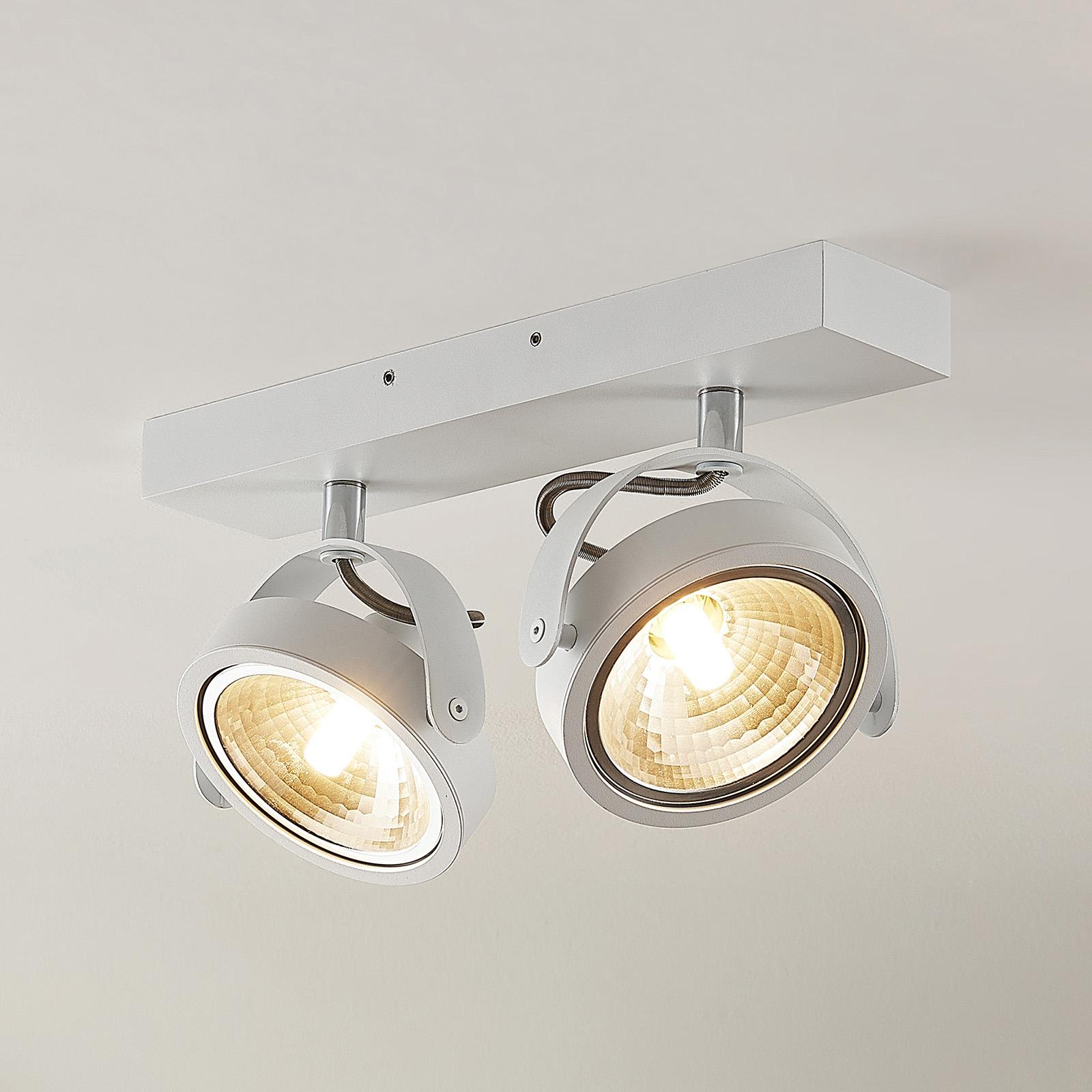 ELC Mitella -kattospotti, 2-lamppuinen, valkoinen