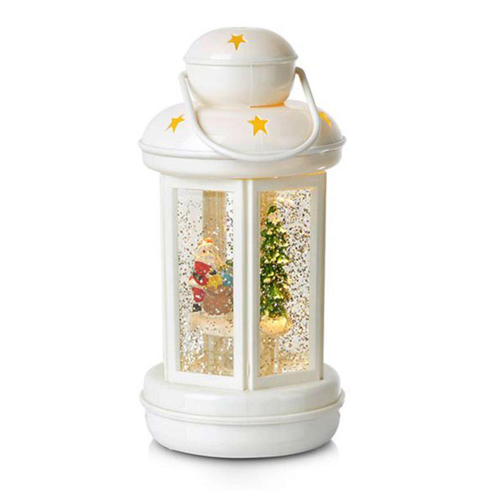 Glitter - fylt dekorlanterne Cosy LED hvit