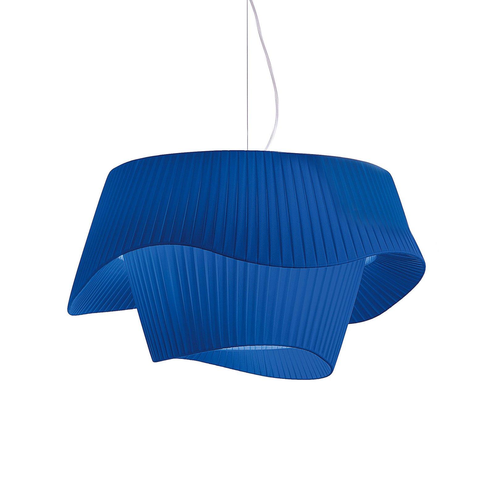 Modo Luce Cocó tekstil-hengelampe Ø 60 cm blå